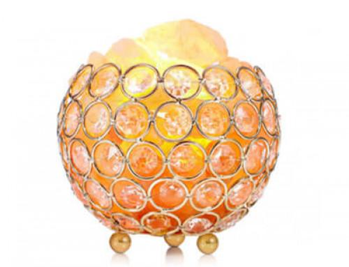 Himalayan Natural Crystal Round Ball Shape Night Lamp