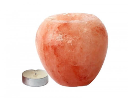 Himalayan Salt Crafted APPLE Shape Candle Holder