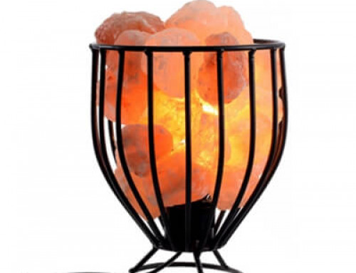 Himalayan Salt Wrought Iron Salt Basket Lamp