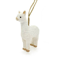 Llama Wood Ornament