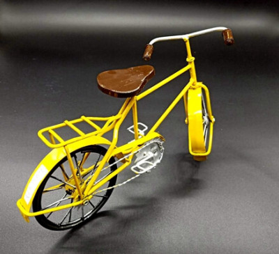 _Metal Bicycle Model Yellow (1)