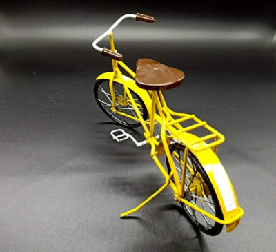Metal Bicycle Model Yellow (2)