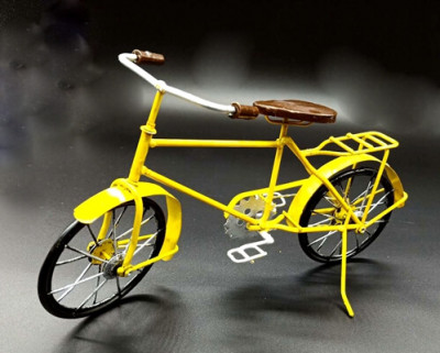 Metal Bicycle Model Yellow