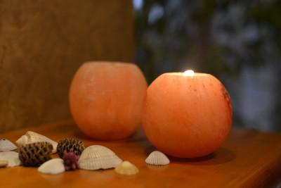 Salt Crafted APPLE Shape Candle Holder