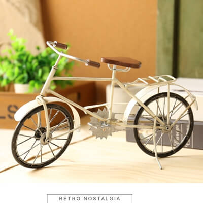 Vintage Metal Bicycle Model Decor
