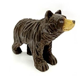 handmade wooden bear