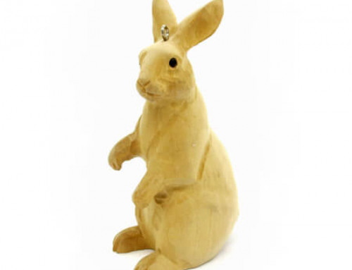Hand Carved Wooden Rabbit