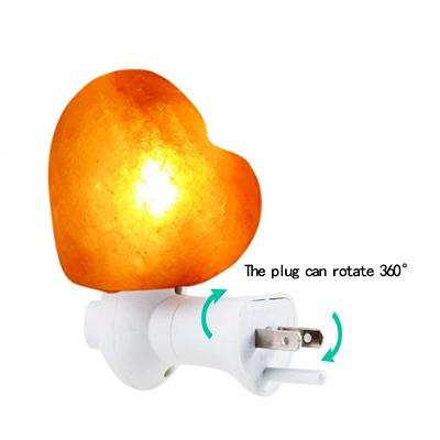 salt lamp heart shape night l