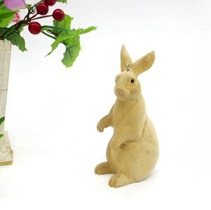 wood rabbits no painting