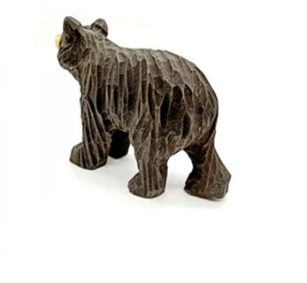 wooden bear carving