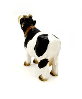 wooden cow decoration