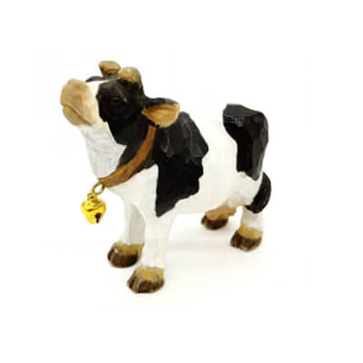 wooden farm cow