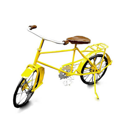 yellow metal bike