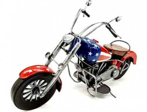 Home Decor Handmade Retro Metal Motorcycle Model