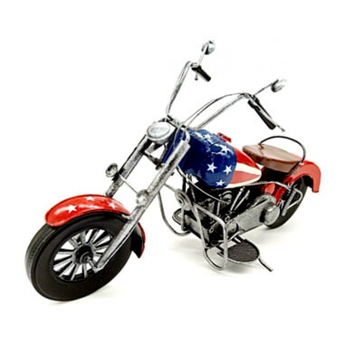 Decor Handmade Retro Metal Motorcycle Model