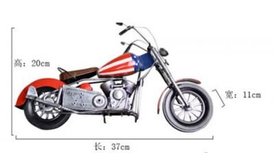 Handmade Retro Metal Motorcycle Model SIZE