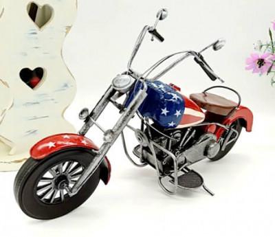 Home Decor Handmade Retro Metal Motorcycle Model